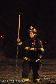Firefighter (Cole) waiting on the officer