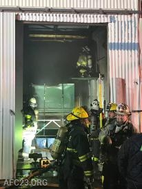 Crews inside opening the walls.