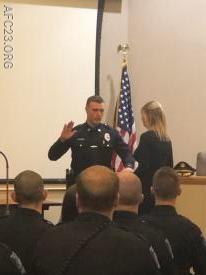 PO Krissinger getting Sworn in