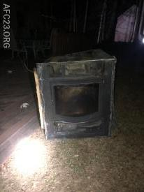 Back of the wood stove