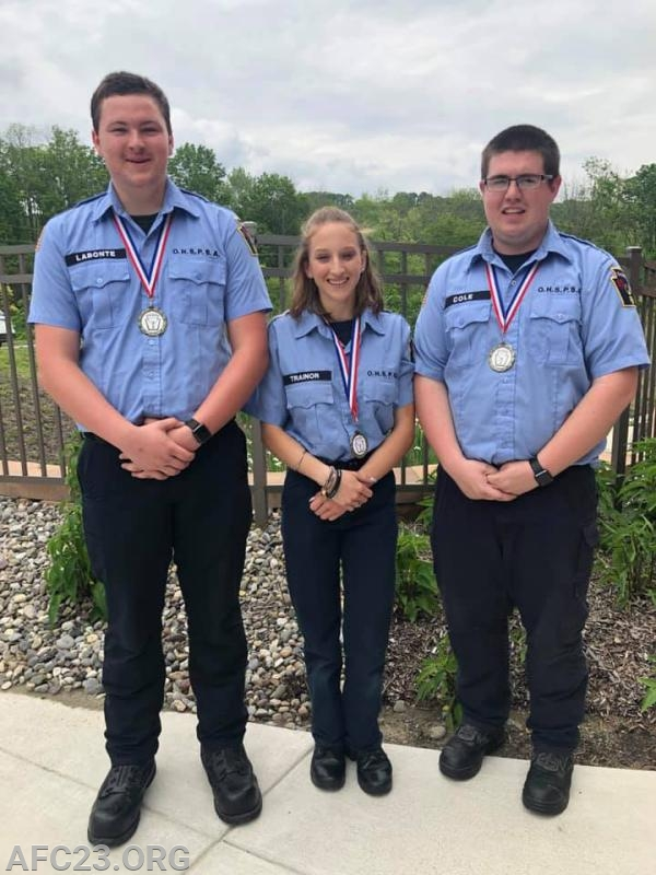Cadets Jacob Labonte, Kim Trainor, and Brandon Cole.