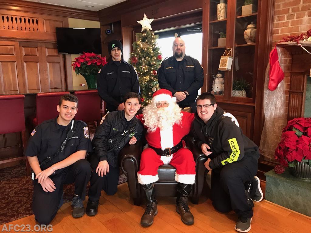 Crew with Santa