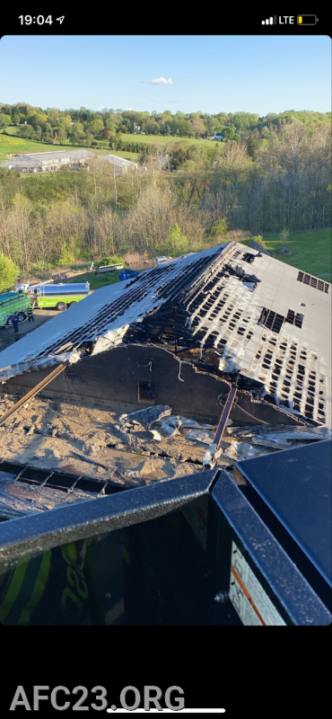 The aftermath from Tower 24 bucket