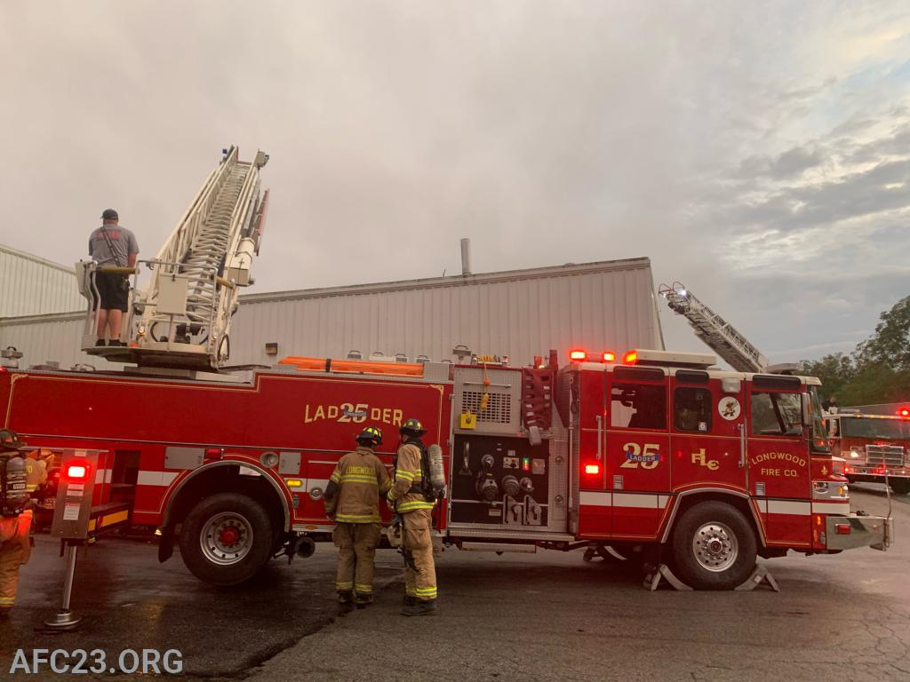 LAD25 extending up to the roof.