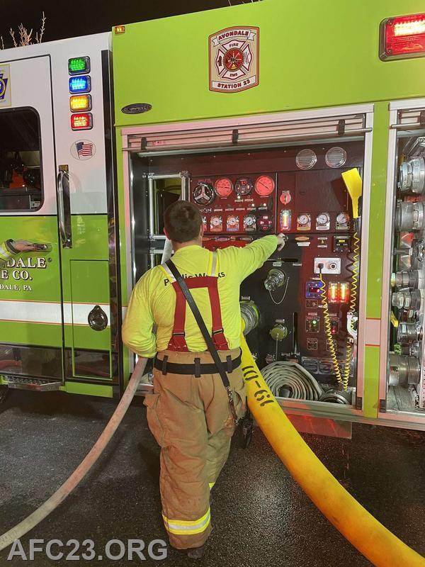 Lieutenant Cole pumps the Rescue