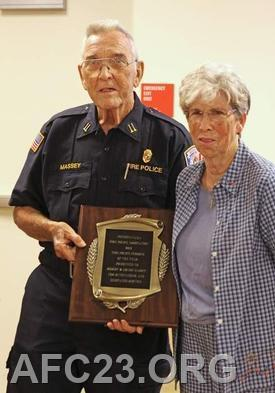 The Massey's Fire Police of the Year plaque from the Commonwealth of Pennsylvania.